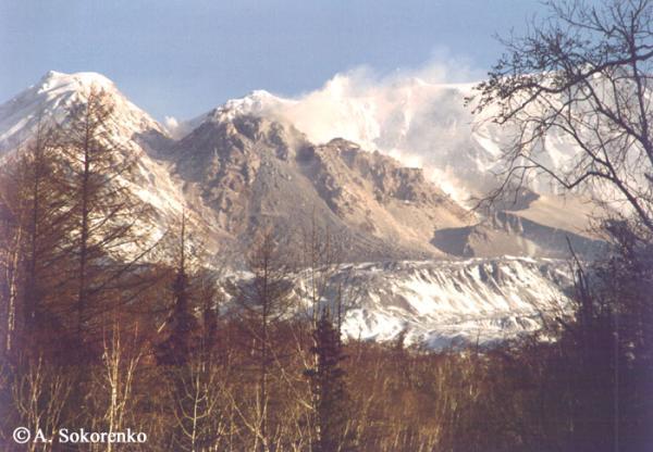 Новый купол вулкана Шивелуч (октябрь 2001г)