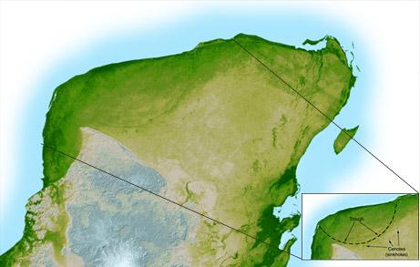 карта по данным SRTM