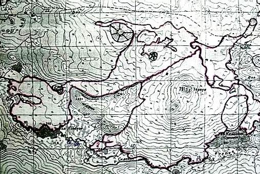 Топографическая схема района г. Терпук.