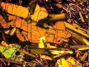 Оливиновый базальт, оливин-плагиоклазовые срастания