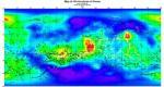 Карта распределения рифтовых структур на поверхности Венеры