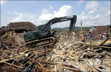 Сильное землетрясение на вулкане Мерапи