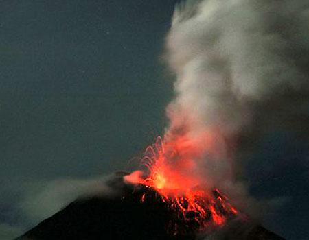 вулкан Тунгурахуа 6 марта 2007