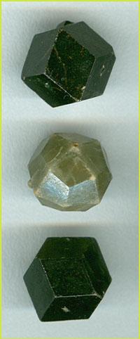 Простые формы кристаллов кубической сингонии на примере гранатов андрадита(ромбододекаэдры)и гроссуляра (тетрагонтриоктаэдр)