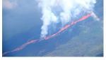 Лавовый поток вулкана Лакумбре 13 апреля 2009 года на острове Фернандина (Галапагосские острова)
