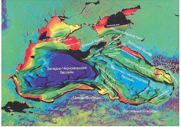 Для Черного моря цветом